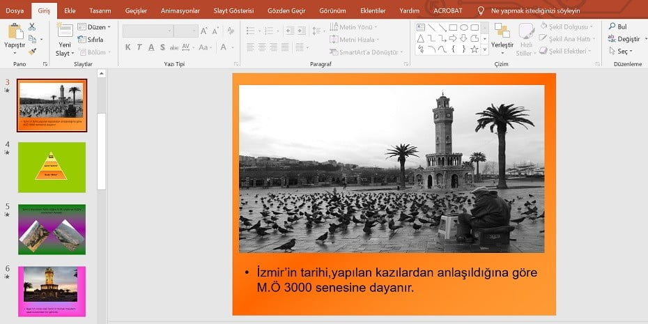 İzmir'i Tanıtalım Performans Ödevi – Powerpoint Sunusu