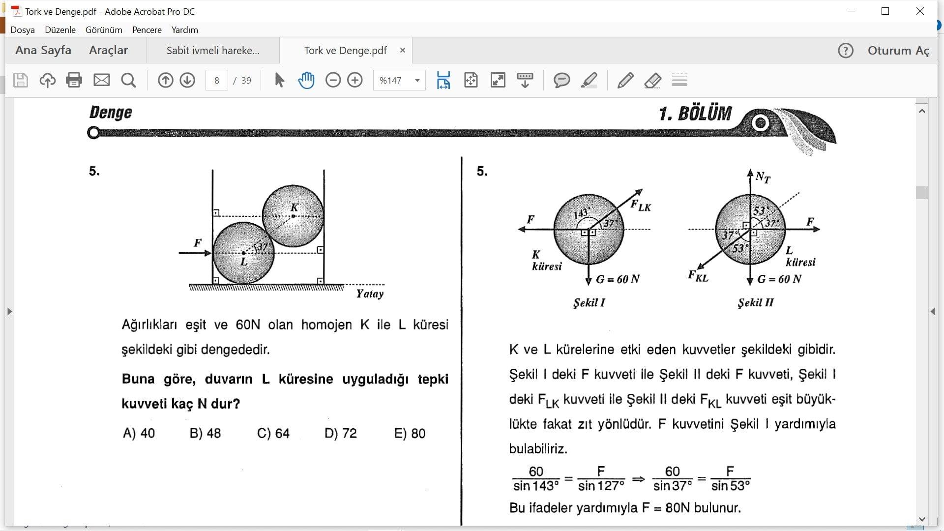tork ve denge cozumlu sorular pdf