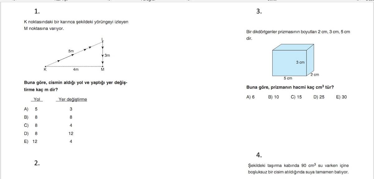 9. Sınıf Fizik Sorumluluk Sınav Soruları - word