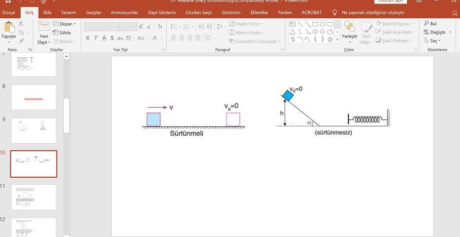 Mekanik Enerji Korunumu Konu Anlatım Sunusu - 9. Sınıf - PPT